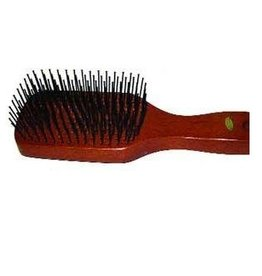 Wood Back Tail Brush