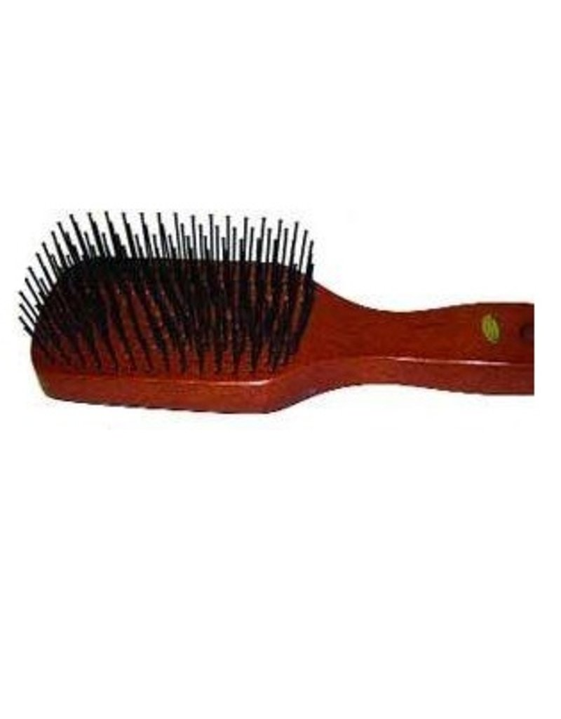 Wood Back Tail Brush