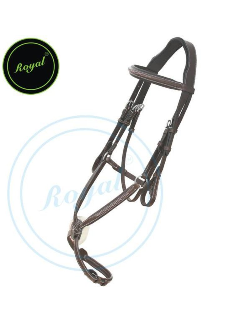 Royal Royal Fancy Raised Figure 8 Bridle with Rubber Reins