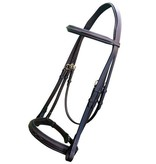 Royal Fancy Stitch Padded Hunter Bridle with Laced Reins