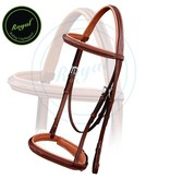 Royal Royal Fancy Stitched Padded Hunter Bridle with Laced Reins