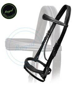 Royal Royal Plain Anatomic Bridle w Rubber Reins