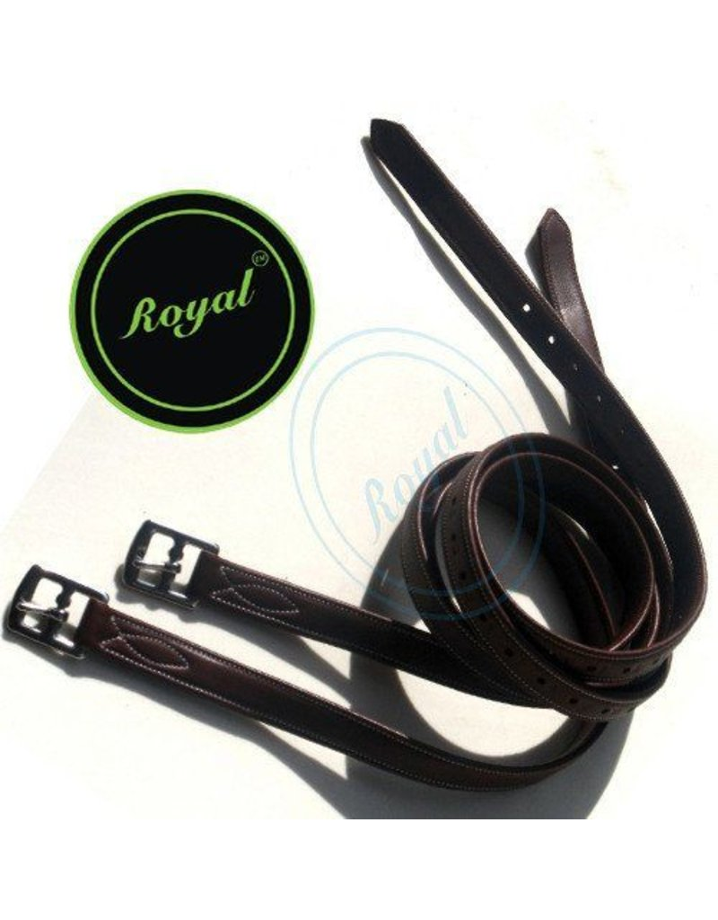 Royal Fancy Triple Covered Stirrup Leather