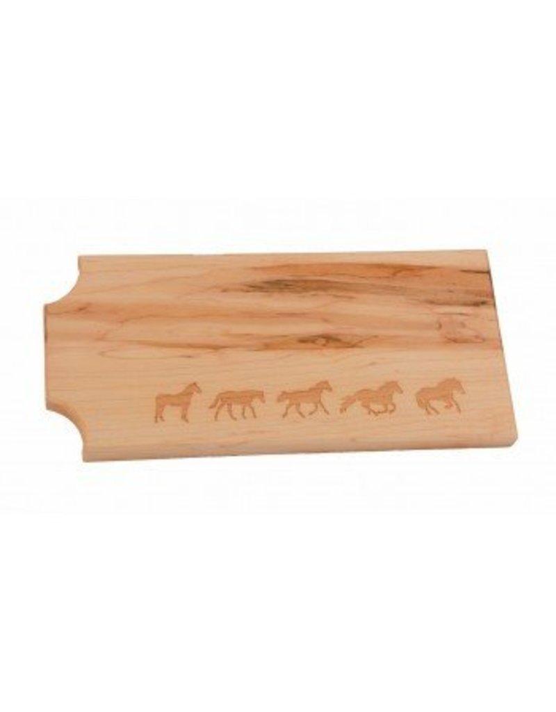Wood Cheese Board - Horses