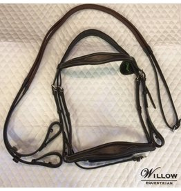 Royal Royal Anatomical Fancy Stitched Bridle With Rubber Reins