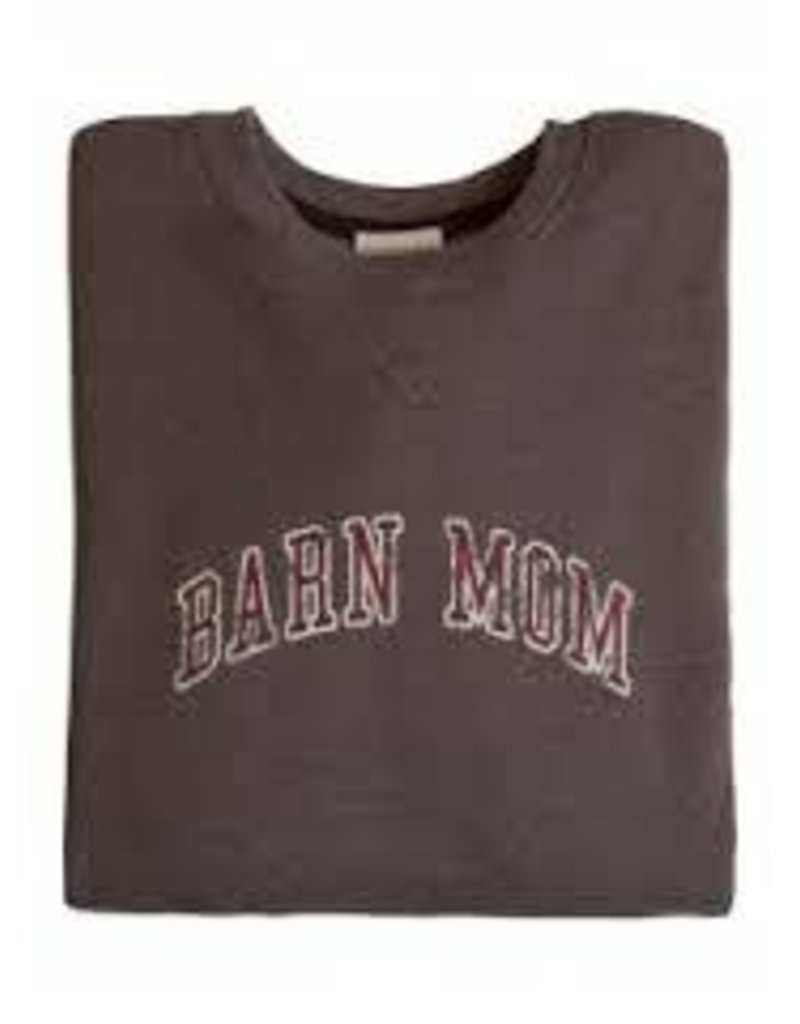 Stirrups Stirrups Ladies 'Barn Mom' Sweatshirt Charcoal