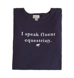 Stirrups Stirrups Ladies 'Fluent Equestrian' Thermal Shirt Navy