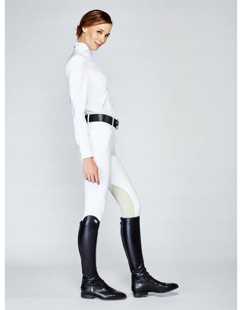 Asmar Wellington Mesh Show Shirt White/Lt. Blue