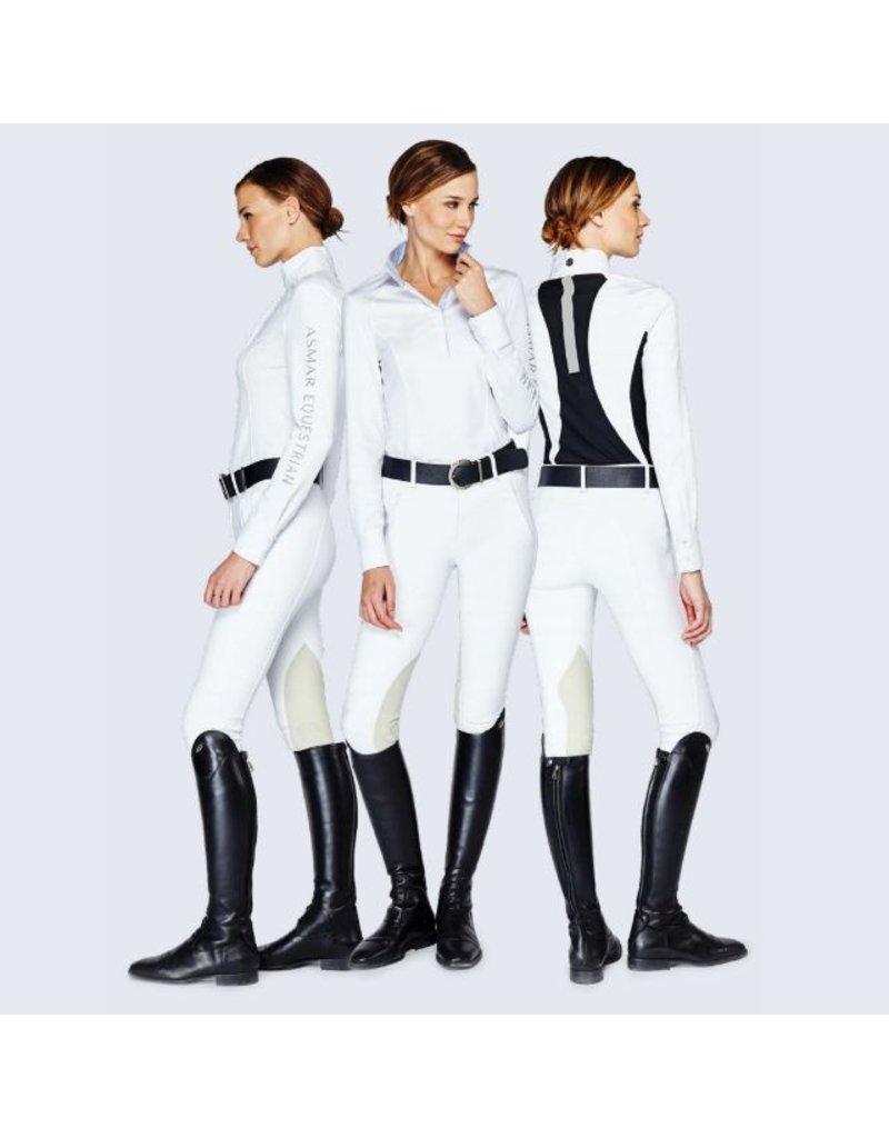 Asmar Devon Technical Show Shirt White/Lt. Blue