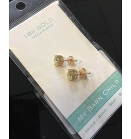 My Barn Child My Barn Child 18K Gold Earrings - Yellow Gold/Green