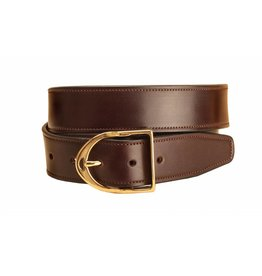 "Tory Tory 1 1/2"" Stitched Belt with Stirrup Buckle"