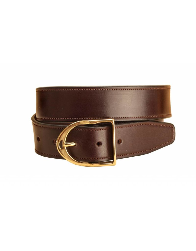 """Tory Tory 1 1/2"""" Stitched Belt with Stirrup Buckle"""