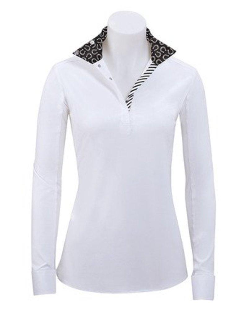 RJ Classics RJ Classics Rebecca Horseshoes Show Shirt White