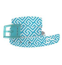 C4 Belts C4 Belt Blue/White Greek Keys