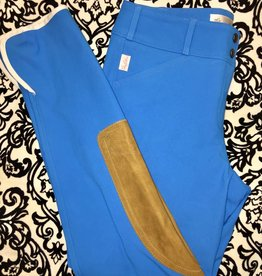 Tailored Sportsman Tailored Sportsman Lowrise Front Zip Breech Blue Blazes/Tan