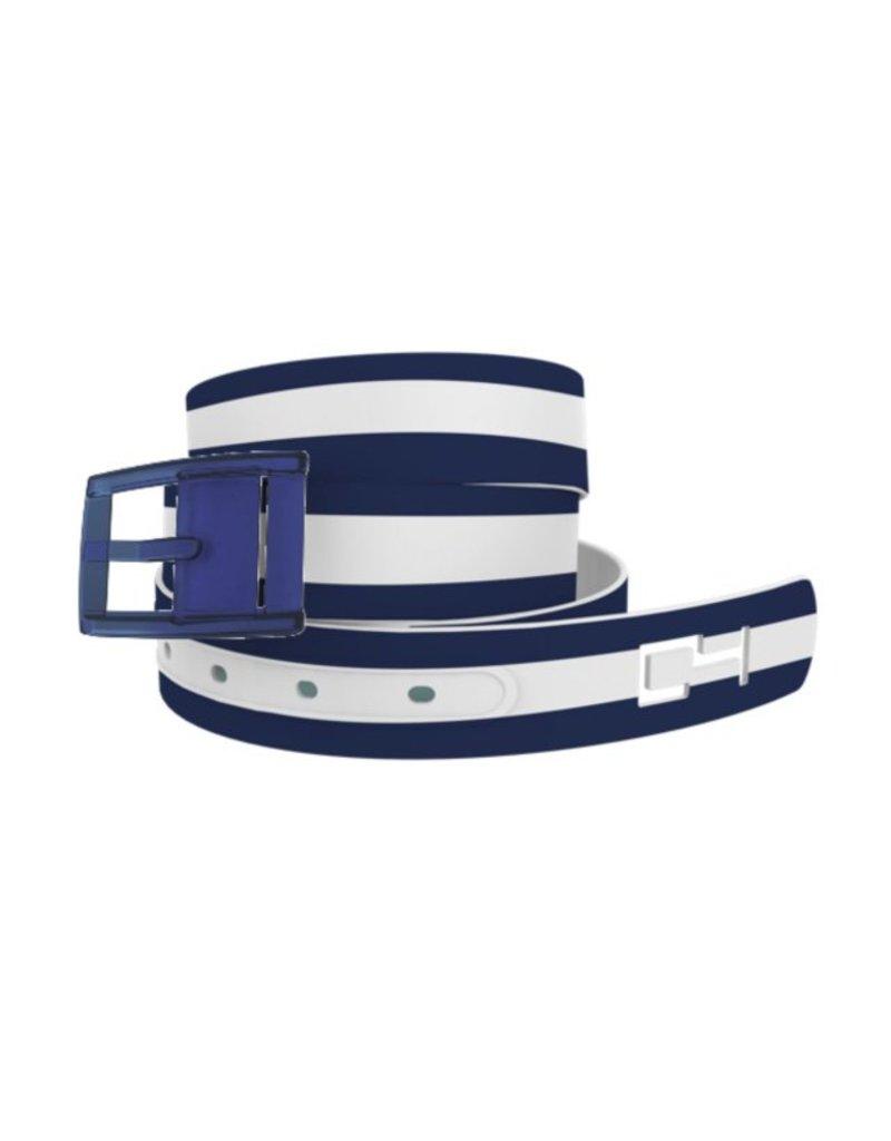 C4 Belts C4 Belt Navy/White Stripe