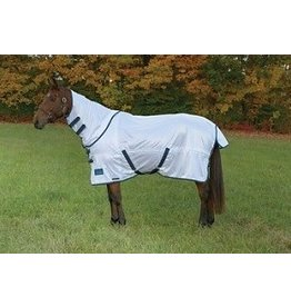 Shires Shires Tempest Fly Sheet with Neck White/Turquoise