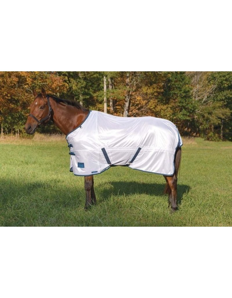 Shires Shires Tempest Fly Sheet White/Turquoise