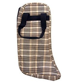 Classic Black Plaid Boot Bag