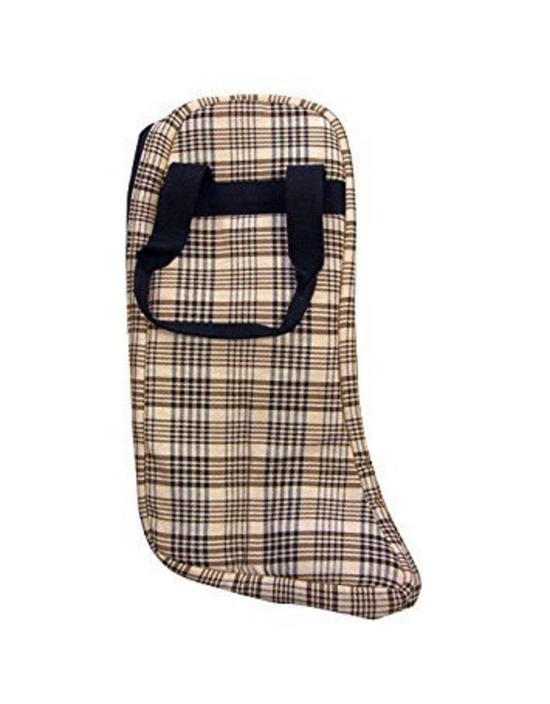 Classic Black Plaid Boot Bag