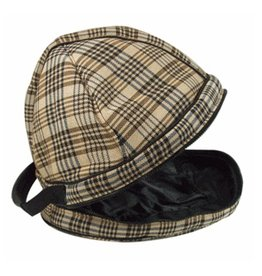 Classic Black Plaid Helmet Bag