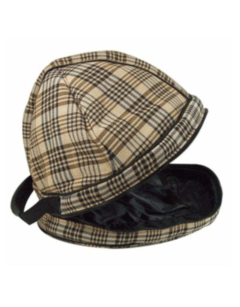 Classic Black Plaid Helmet Bag