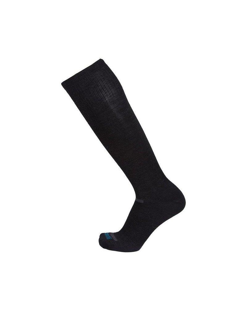 Point 6 Compression Ultra Light Merino Boot Sock Black