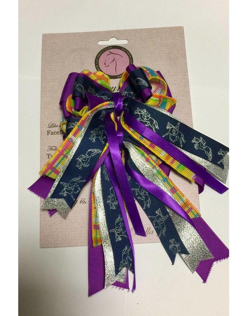 Show Bows Purple Horse