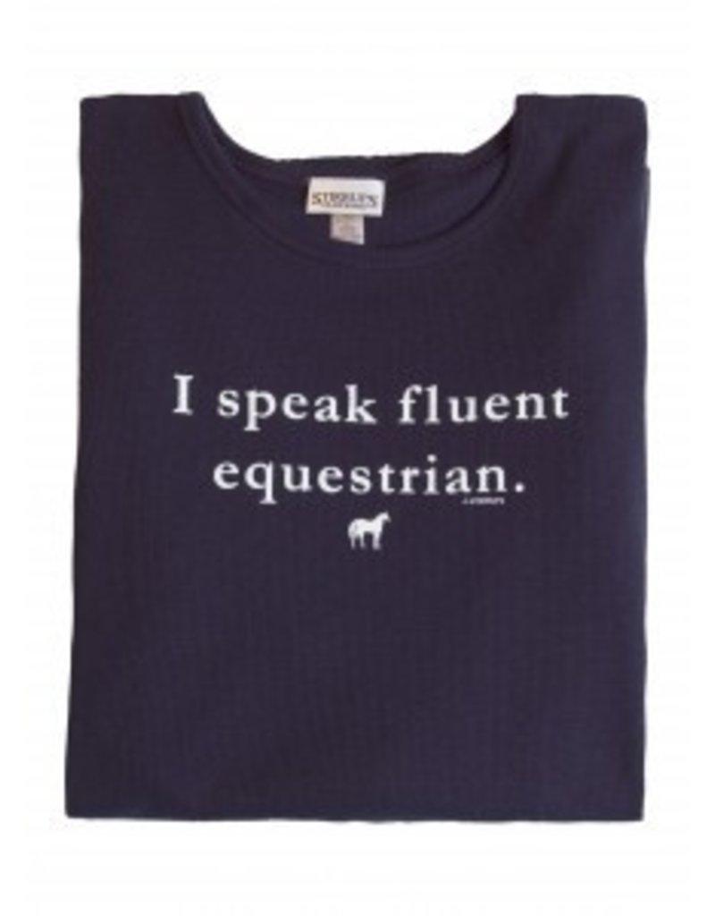 Stirrups Stirrups Ladies 'Fluent Equestrian' Thermal Shirt Navy L