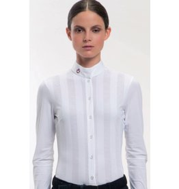 Cavalleria Toscana Vertical Perforated Show Shirt