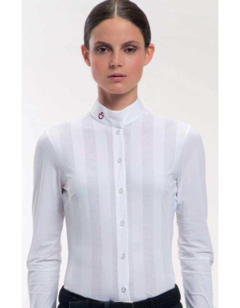 Cavalleria Toscana Vertical Perforated Show Shirt