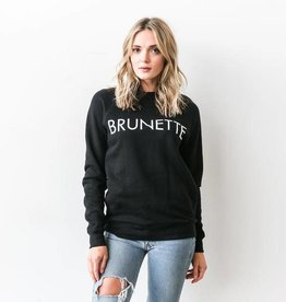 "Brunette The Label Brunette the Label ""BRUNETTE"" Crew Sweatshirt Black"