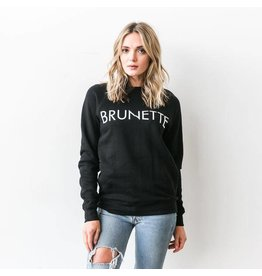 "Brunette The Label ""BRUNETTE"" Crew Sweatshirt Black"