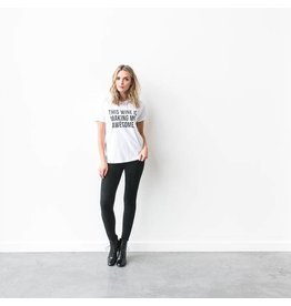 "Brunette The Label ""THIS WINE IS MAKING ME AWESOME"" Crew Tee"