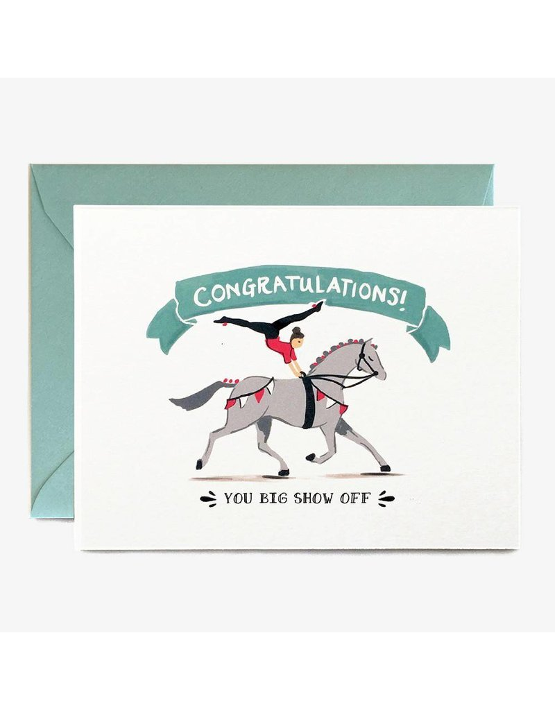 Paper Pony Co. Congrats Show Off Card