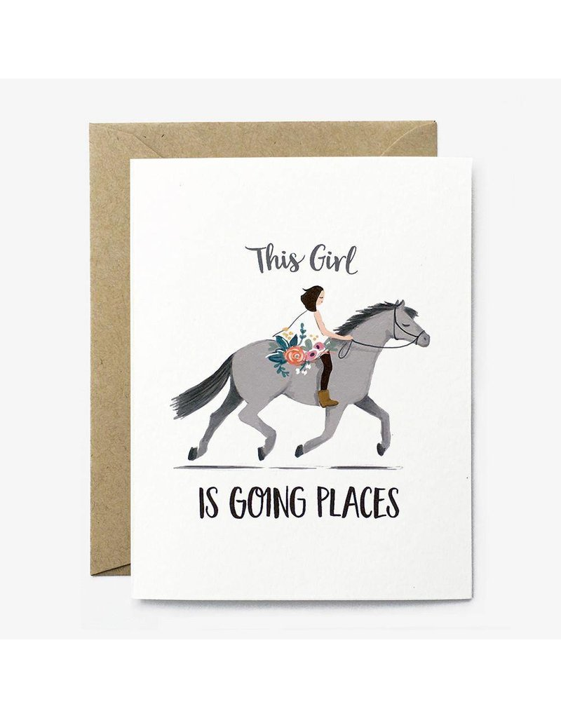 Paper Pony Co. Going Places Pony Card