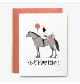 Paper Pony Co. Birthday Pony Card