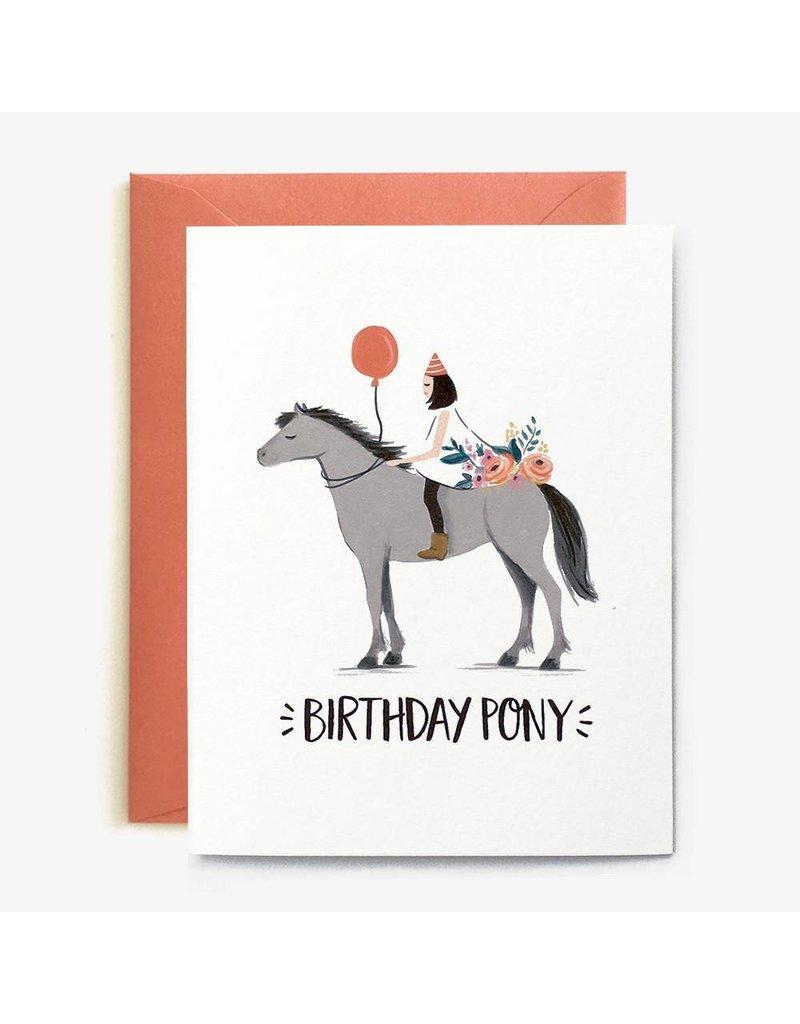 Paper Pony Co. Birthday Pony Card