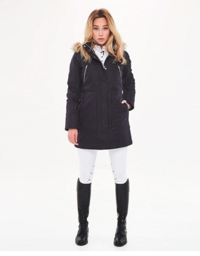 Harcour Deneuve Women's Long Padded Winter Jacket Black