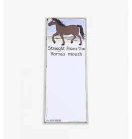 Hatley Hatley Magnetic Notepad 'Straight From the Horses Mouth'