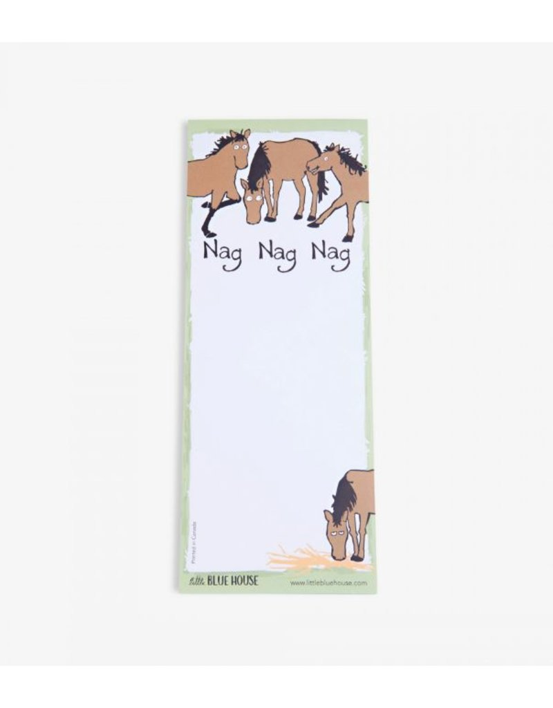 Hatley Magnetic Notepad 'Nag Nag Nag'