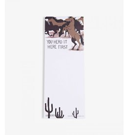 Hatley Hatley Magnetic Notepad 'You Herd it Here First'