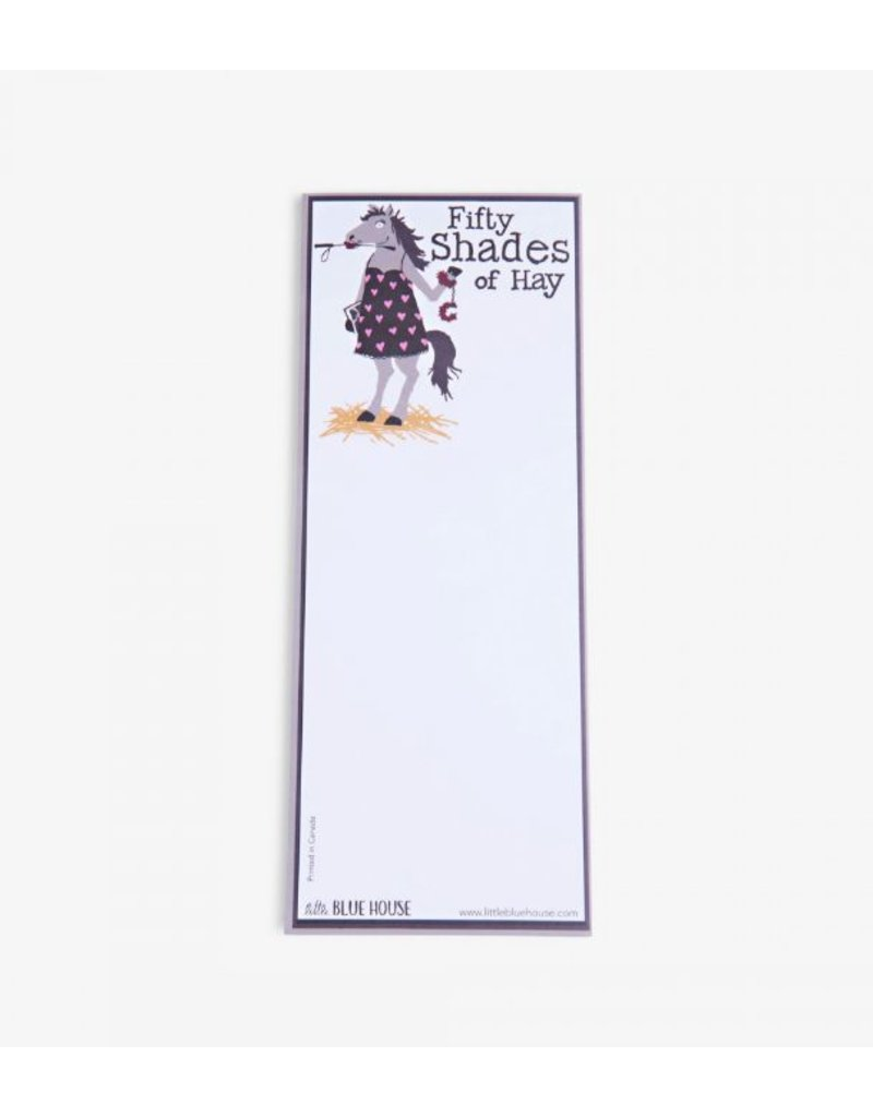 Hatley Magnetic Notepad 'Fifty Shades of Hay'