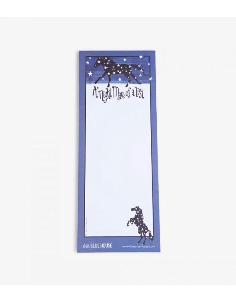 Hatley Magnetic Notepad 'Night Mare of a List'