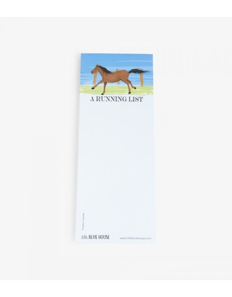 Hatley Magnetic Notepad 'A Running List'