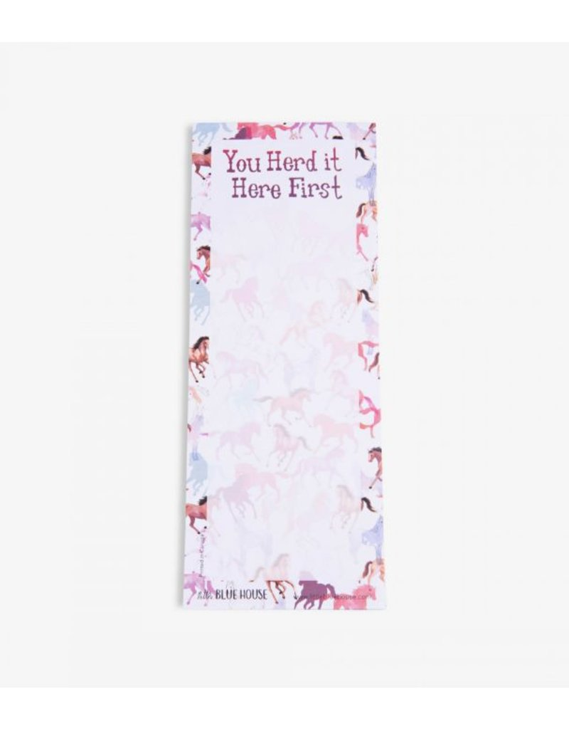 Hatley Magnetic Notepad 'You Herd it Here First' II