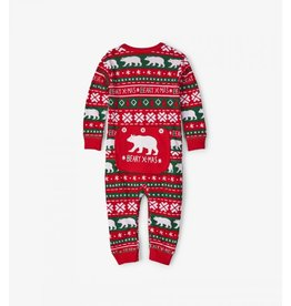 Hatley Hatley Infant Union Suit - Beary Xmas
