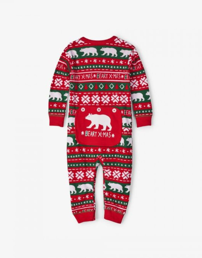 Hatley Infant Union Suit - Beary X-Mas