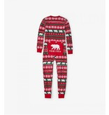 Hatley Kids Union Suit - Beary X-Mas