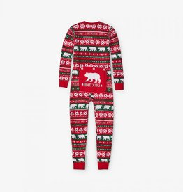 Hatley Hatley Kids Union Suit - Beary Xmas